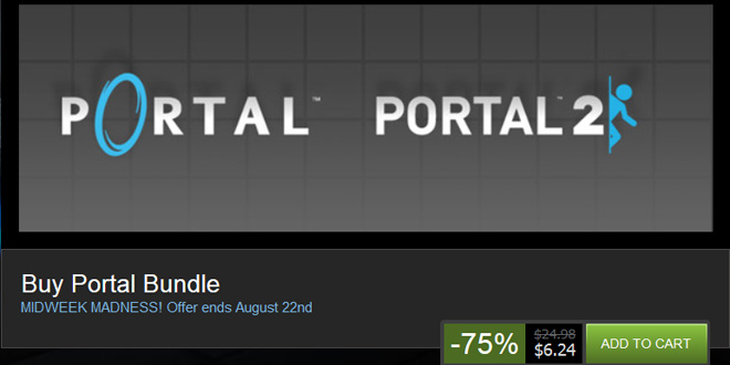 Midweek Madness: Portal Bundle for PC on sale for $6 until Friday