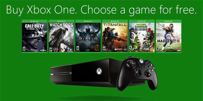 Get a free game when you buy an XBOX One this week!
