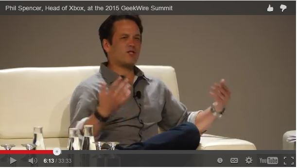 phil spencer at the geekwire summit 2015