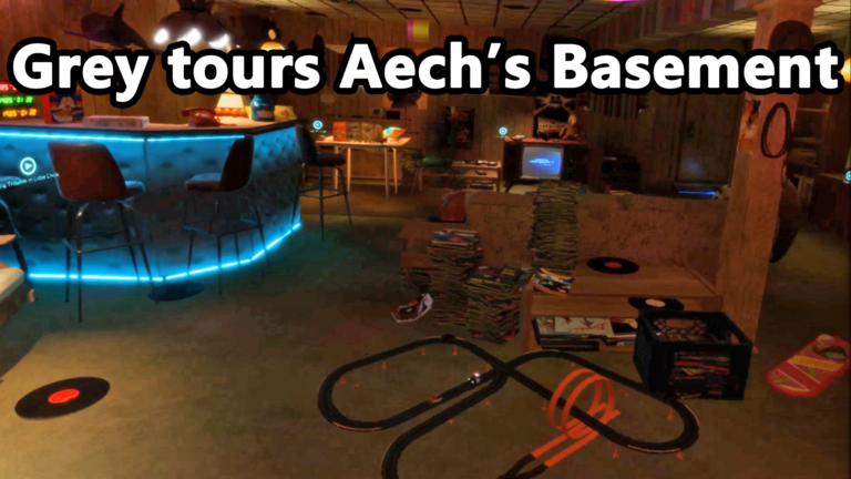 Touring Aech's Basement from Ready Player One