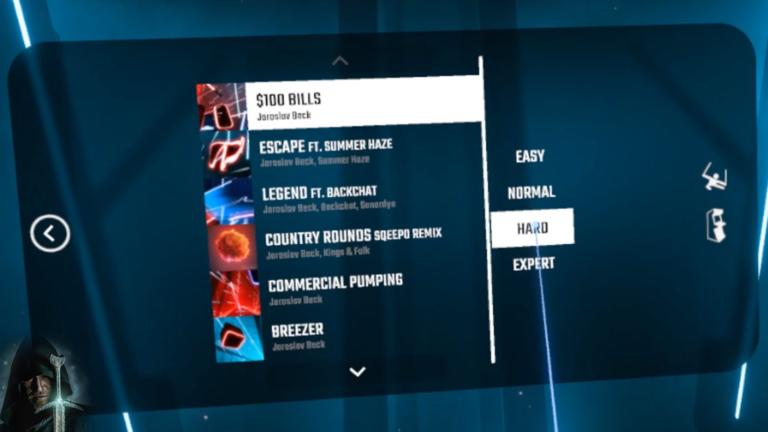 Beat Saber VR: $100 Bills on Hard – Full Combo, No misses!