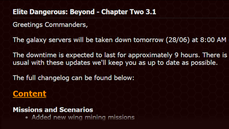 Elite Dangerous Beyond Chapter Two Patch Notes Reviewed!