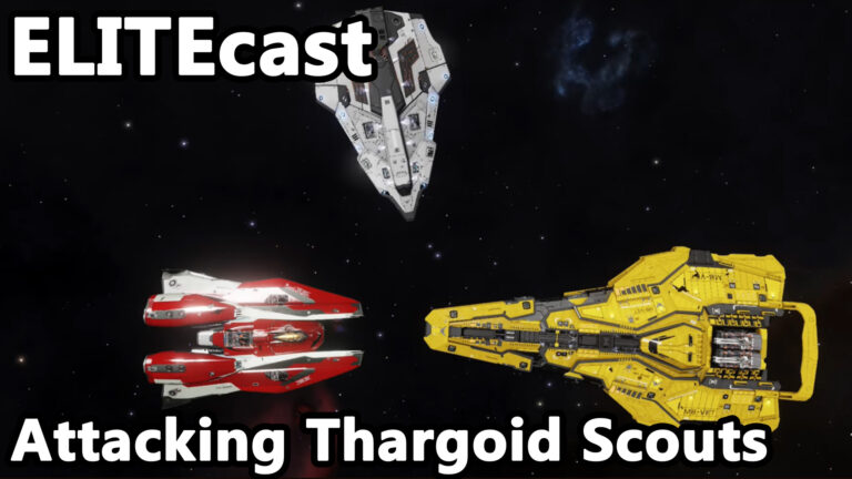 ELITEcast: Humans Strike Back – Taking Out Thargoid Scouts in Elite Dangerous.
